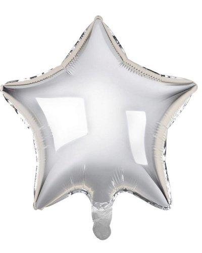 Magicoo Folienballon Stern silber - 48 cm groß