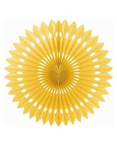 Papierfächer gold - 40 cm