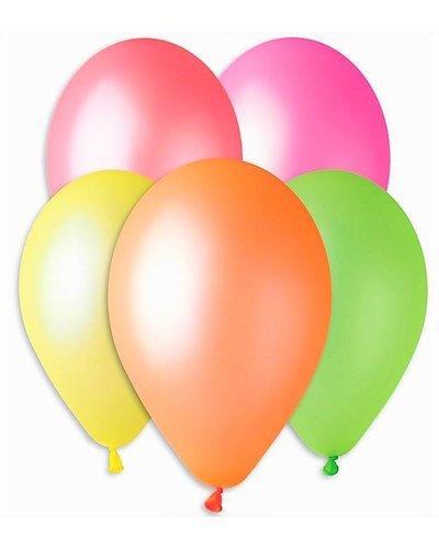 Magicoo 5 Bunte Luftballons in Neon-Farben