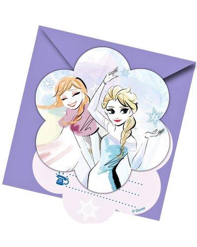 """Disney 6 Einladungen Anna & Elsa """"Frozen Sparkle"""""""