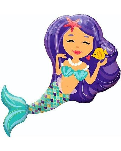 Magicoo Folienballon - magische Meerjungfrau - 97 cm groß