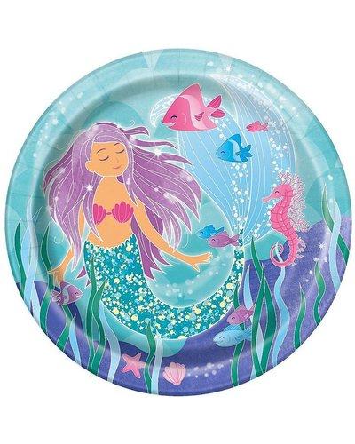 """Magicoo 8 Partyteller - """"Funkelnde Meerjungfrau"""" - 23 cm"""