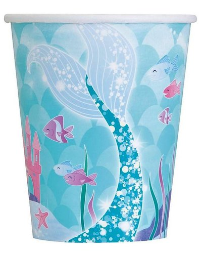 Magicoo 8 Becher -  Funkelnde Meerjungfrau - 270 ml
