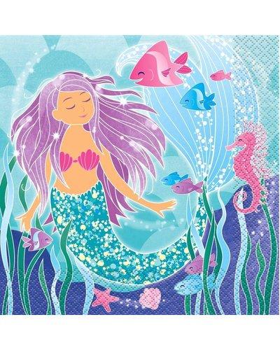 Magicoo 16 Servietten - Funkelnde Meerjungfrau