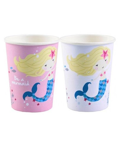 Magicoo 8 Becher -  Meerjungfrau-Party - 270 ml