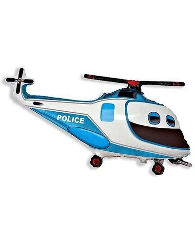 Magicoo Folienballon - Polizei Helikopter ca. 61 cm groß
