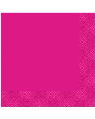 Magicoo Servietten in Neon Pink  - 20 Stück - 33x33 cm