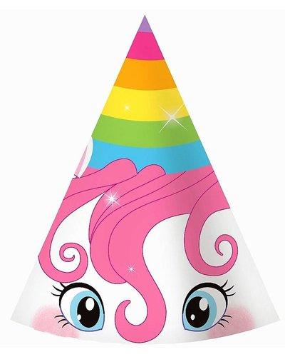 Magicoo Partyhüte -  Magisches Einhorn - 6 Stück