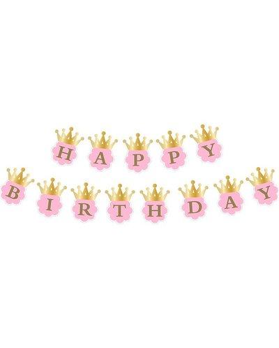 "Magicoo ""Happy Birthday"" Girlande rosa-gold"