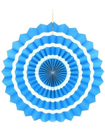 Magicoo Papierfächer blau-weiß - 40 cm