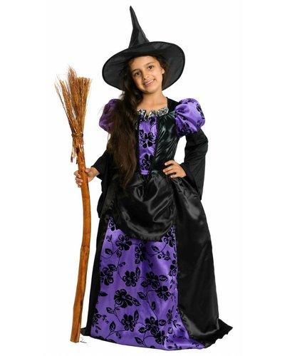 Magicoo Hexenkönigin lila-schwarz - Kostüm für Mädchen