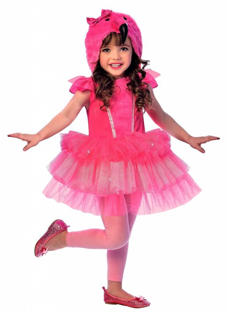 flamingo kostuem fuer maedchen pink magicoode magicoo