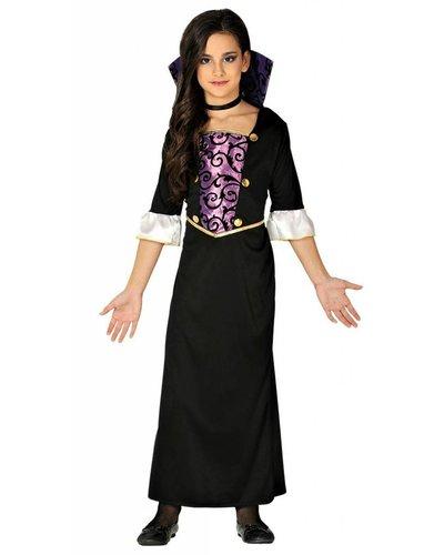 Magicoo Lila-Schwarzes Vampir Kostüm für Mädchen