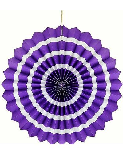 Magicoo Papierfächer lila-weiß - 40 cm