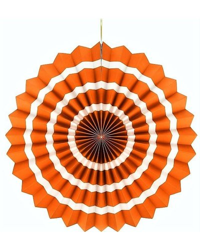 Magicoo Papierfächer orange-weiß - 40 cm