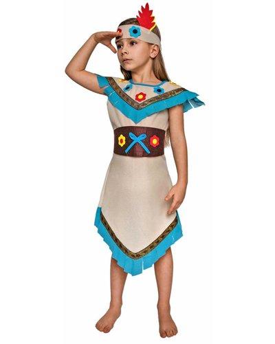 Magicoo Indianerin Kostüm Mädchen mit Blumen