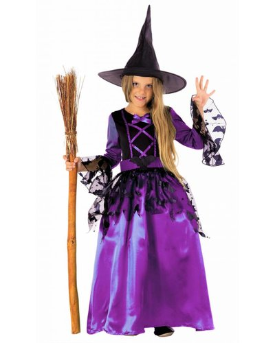 Magicoo Fledermaushexe - lila Kostüm Hexe für Mädchen