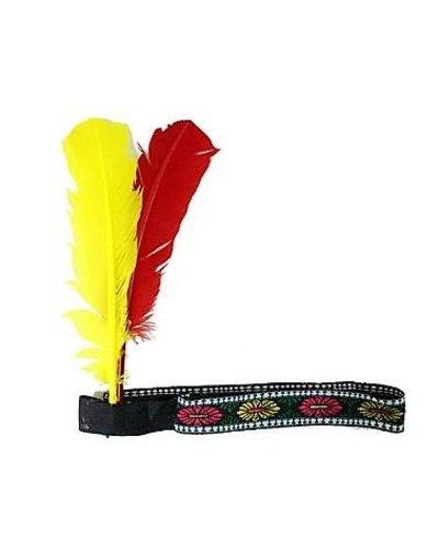 Magicoo Indianer Kopfschmuck - rot-gelb