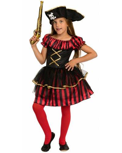 Magicoo Piratenlady - Piratenkostüm  Mädchen rot-schwarz