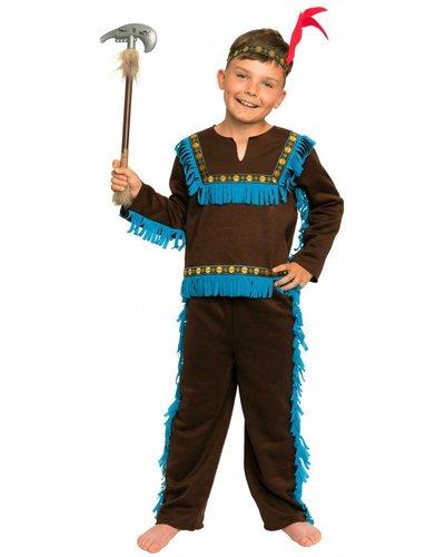 Magicoo Braunes Indianer Kostüm für Jungen