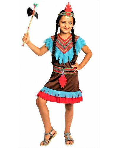 Magicoo Braunes Indianer Kostüm für Mädchen