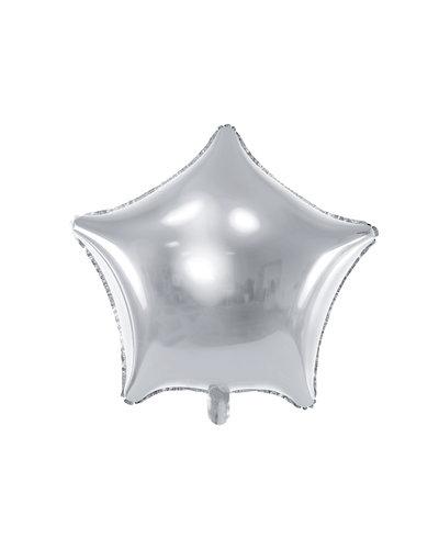 Magicoo Folienballon Stern, 48 cm Silber