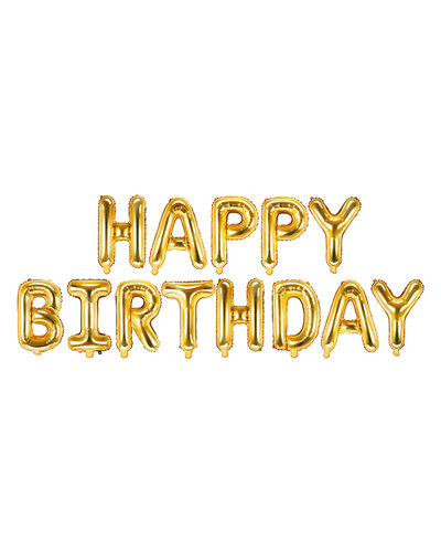 "Magicoo Folienballon ""Happy Birthday"" 340x35cm gold"