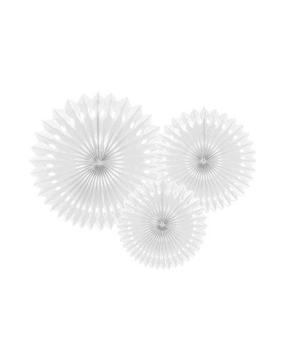 Magicoo 3 Papierfächer in 3 Größen weiß 20-30cm