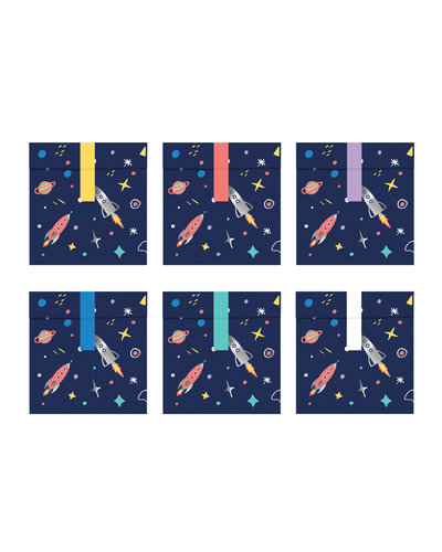 Magicoo Geschenktüten Weltraum-Party, 13x14cm (6 Stück)