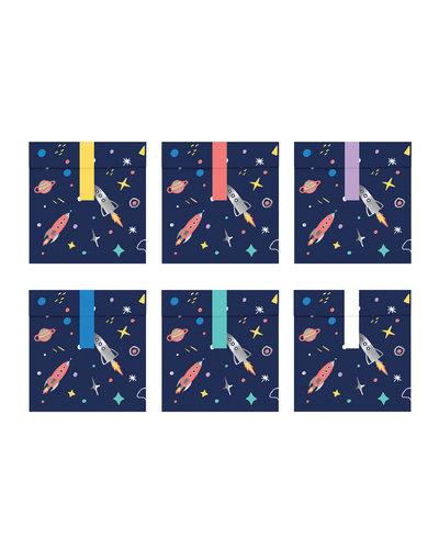 Magicoo Geschenktüten Weltraum-Party (6 Stück)
