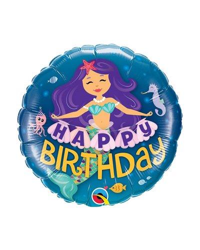 "Magicoo Folienballon Meerjungfrau ""Happy Birthday"""