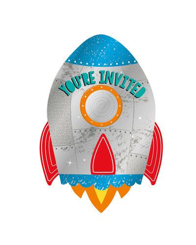 Magicoo 8 Einladungskarten mit Umschlägen Weltraum-Party