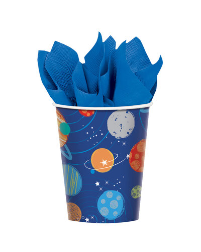 Magicoo 8 Becher aus Papier Weltraum 266 ml