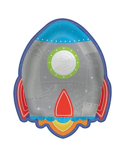 "Magicoo 8 Formteller ""Rakete"" Weltraum 17,7 x 22,22 cm"