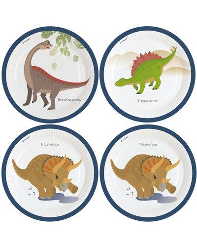 Magicoo 8 Teller Dinoparty rund 22,8 cm