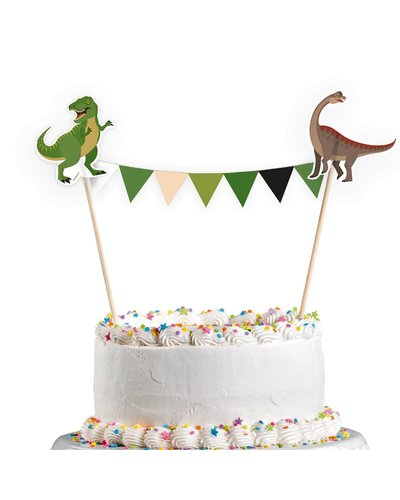 Magicoo Kuchendekoration Wimpelkette Dino-Party 15 x 20 cm
