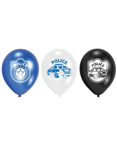 Magicoo 6 Latexballons Polizei 22,8 cm