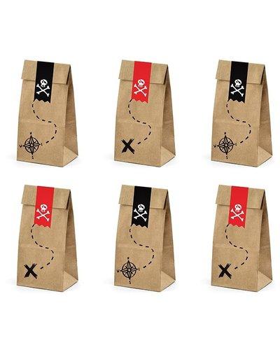 Magicoo Geschenktüten für Piraten Kindergeburtstag 8x18x6cm