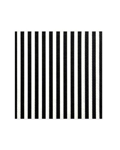 Magicoo Servietten gestreift schwarz-weiß