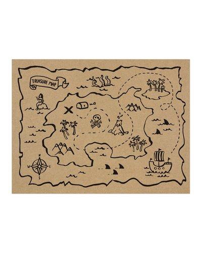 Magicoo 6 Papier Tischsets - Schatzkarten für Piratenparty