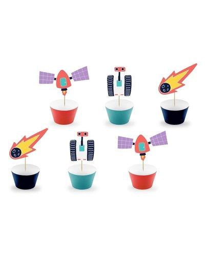 Magicoo Dekoset für Muffins Weltraum Party (6 Stück)