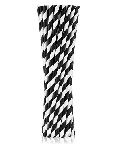 Magicoo Trinkhalme aus Papier schwarz, 19,5cm 10 Stück
