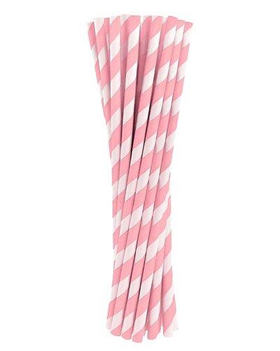 Magicoo Trinkhalme aus Papier rosa, 19,5cm 10 Stück