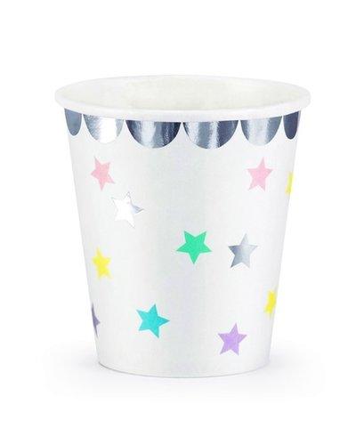 Magicoo Partybecher Einhorn und Sterne - 180 ml 6 Stück