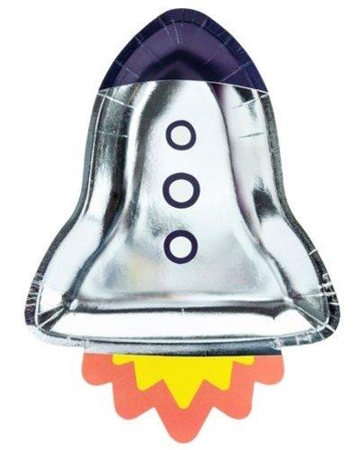Magicoo Partyteller Weltraum-Party - Rakette, 21,5x29,5 cm. (6 Stück)