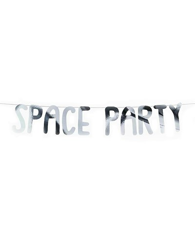"Magicoo Partybanner Weltraumparty ""Space Party"" silber 13x96cm"