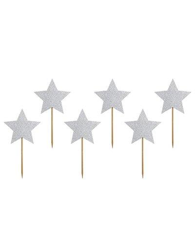 Magicoo 6 Cupcake-Topper  - Sterne