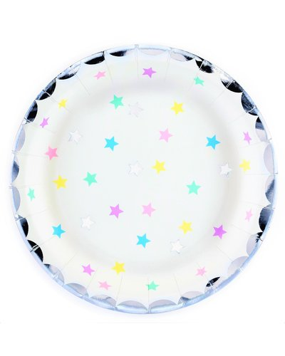Magicoo Partyteller Einhorn und Sterne 18 cm (6 Stück)