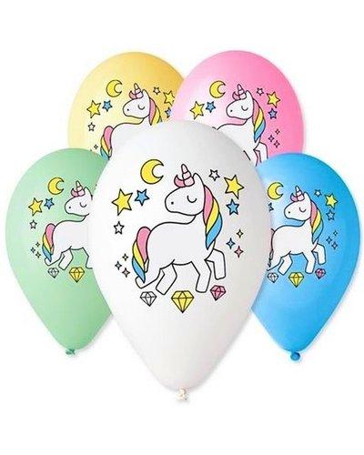"""Magicoo Luftballons """"Magisches Einhorn"""" in Pastellfarben"""