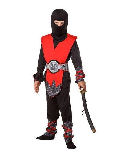 Magicoo Ninja Kostüm für Kinder rot-schwarz